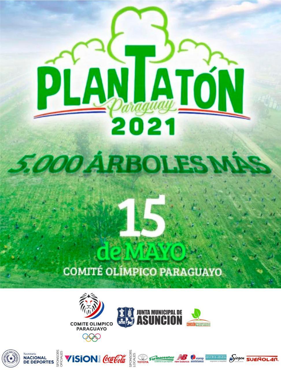 Plantatón en el Comité Olímpico Paraguayo